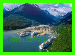 SKAGWAY, ALASKA - AERIAL VIEW - PHOTO BY STEVE GIBSON - TERRELL PUB CO  - ARTIC CIRCLE ENTERPRISES - - United States