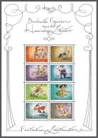 lie12122 Liechtenstein 2012 Famous figures from classical literature Horse Full Sheet Michel No.1643-50