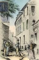 75 VIEUX  MONTMARTRE  La Rue Cortot En 1840  Animée  Couleur  Edit  A.J..H. - Arrondissement: 18