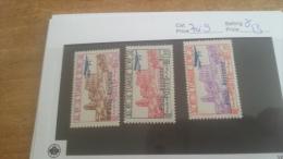 LOT 224240 TIMBRE DE COLONIE TUNISIE NEUF* N�7 A 9 VALEUR 13 EUROS