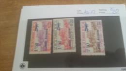 LOT 224241 TIMBRE DE COLONIE TUNISIE NEUF* N�10 A 12 VALEUR 20 EUROS