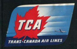 "Trans Canadian Airlines Poster Stamp Cinderella Damaged Gum 4 1/2 X 3"" - Cinderellas"