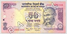 Inde - 50 Roupies (Recto-Verso) - Inde