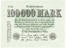 Reichsbanknote - 100 000 Mark - 25 Juillet 1923 (1) - [ 3] 1918-1933 : République De Weimar