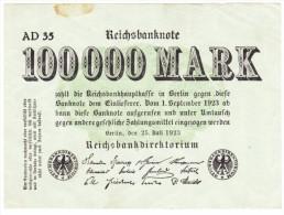 Reichsbanknote - 100 000 Mark - 25 Juillet 1923 (4) - 100000 Mark