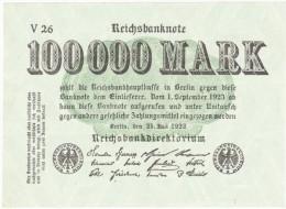 Reichsbanknote - 100 000 Mark - 25 Juillet 1923 (5) - [ 3] 1918-1933 : République De Weimar
