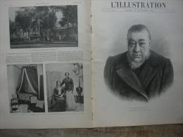 L�ILLUSTRATION N� 3012 PRESIDENT KR�GER/ CHINE/ PRISONNIERS BOERS SAINTE HELENE 17 novembre 1900