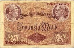 Reichsschuldenverwaltung - 20 Mark - 5 Août 1914 - (N° T-Nr 1255669) (Recto-Verso) - [ 2] 1871-1918 : Empire Allemand