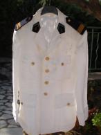 Ancienne Veste D´ Officier Des Transmissions, Fourreaux De Capitaine (14-3073) - Divise