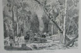 N�312journal illustr� 1870:LA GUILLOTINE AU XVIEME SIECLE/LES BUCHERONS AU JARDIN DU LUXEMBOURG