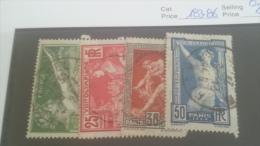 LOT 224267 TIMBRE DE FRANCE OBLITERE N�183 A 186 VALEUR 20 EUROS