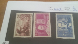 LOT 224288 TIMBRE DE FRANCE NEUF* N�462 A 464 VALEUR 16,5 EUROS