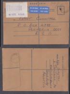 Rhodesia:1978 Registered Air Cover, 26c Registration Label Franking SALISBURY RHODESIA 3 To Pretoria, SALISBURY Transit - Rhodesia (1964-1980)