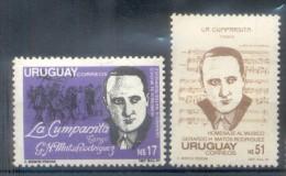 URUGUAY YVERT NRS. 1247-48  AÑO 1988 HOMENAJE A GERARDO H. MATOS RODRIGUEZ COMPOSITOR DEL TANGO LA CUMPARSITA MUSIQUE - Uruguay
