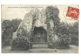 Cp, Belgique, Blégny-Trembleur, Ecole Normale Et Pensionnat, Grotte, Voyagée 1907 - Blégny