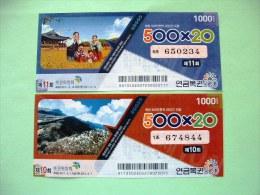Korea Lottery Tickets - Billets De Loterie