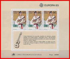 Portugal/Madeira 1985 Europa S/S SC#101a MNH Cv $10 Guitar,MUSIC,COSTUMES (3ALL) - Colonies & Territories – Unclassified