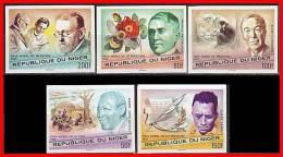 NIGER 1977 NOBEL PRIZE WINNERS Imperforated MNH CV$20.00 MEDICINE, JUDAICA, LITERATURE  (3ALL) - Medicine