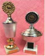 2 X Pokal Kaninchen-Zucht-Verein  -  Ca. 21 Cm Und 26 Cm Länge  -  Von 1982 / 1985 - Vereinswesen