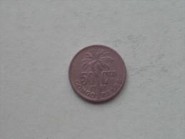 50 Cent 1925 ( FR ) / KM 22 ( Uncleaned - Details Zie Foto´s ) ! - Congo (Belgian) & Ruanda-Urundi