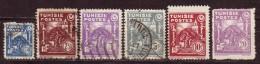 TUNISIE - 1944 - YT N° 257 + 259 / 260 + 263 + 265 + 267 - Oblitérés - 6 Valeurs - 265 + 267 ** - Used Stamps
