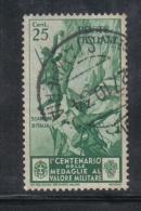 3RG892 - REGNO 1934 , 25 Cent  N. 369 . Medaglie Al Valore - Gebraucht