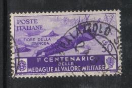 3RG903 - REGNO 1934 , 50 Cent  N. 371 . Medaglie Al Valore - 1900-44 Vittorio Emanuele III