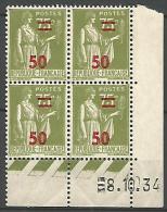 COIN DATE / 1934 N� 480 NEUF* TTB