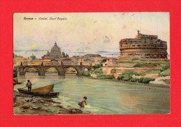[DC5527] CARTOLINA - RARA - CASTEL SANT'ANGELO - Non Viaggiata Ma Con Francobollo- Old Postcard - Castel Sant'Angelo