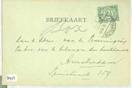 HANDGESCHREVEN BRIEFKAART Uit 1908 Van HAARLEM Naar AMSTERDAM  (8937) - Periode 1891-1948 (Wilhelmina)