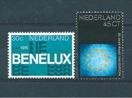 Pays Bas Timbres De 1974  N° 1006 Et 1007  Neuf * - Period 1949-1980 (Juliana)