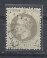 Frankreich, ° (gest., Obl., Used);s. Scan, 1863, Napoleon III.grau,  (Laure), YT: 27 /  Michel 26b - 1863-1870 Napoléon III. Laure