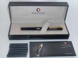 Sheaffer Agio Black Laque Featuring Gold Tone Trim Fountain Pen** (#3) - Penne