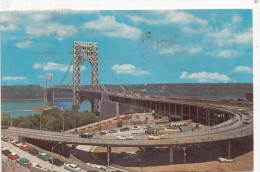 BF27927 George Washington Bridge Hudson River USA   Front/back Image - Hudson River