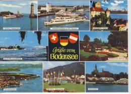 Grüße Vom BODENSEE - RST BACKNANG, Mehrbildkarte Vom Dreiländereck SCHWEIZ, DEUTSCHLAND, ÖSTERREICH - Sin Clasificación
