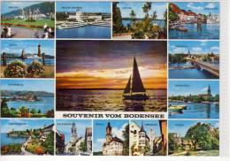 SOUVENIR VOM BODENSEE - Mehrbildkarte Aus Dem Dreiländereck DEUTSCHLAND - SCHWEIZ - ÖSTERREICH ; Marke Handentwertet - Sin Clasificación