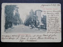 Old Post Card From Latvia Riga Gruss Vom Rigaschen Strande - Letland