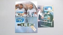 Deutschland DDR 3170/2, Yt 2783/6 Maximumkarte MK/MC, ESST, 10. Jahrestag Des Gemeinsamen Weltraumfluges UdSSR-DDR - DDR