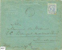 BRIEFOMSLAG Uit 1893 Van AMSTERDAM Naar ZUTPHEN  (8878) - Periode 1891-1948 (Wilhelmina)