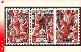Burundi 1039/41**  Noel 1993 MNH
