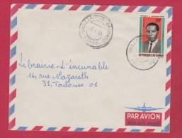 Congo  //  Enveloppe    //  De Brazzaville   //  Pour Toulouse  // 2/6/66 - Congo - Brazzaville