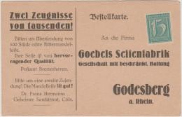 Deutsches Reich - Postkarte - Postal Card - Entier Postal - Bestellkarte - 15 - Goebels Seifenfabrick - Godesberg - New - Deutschland