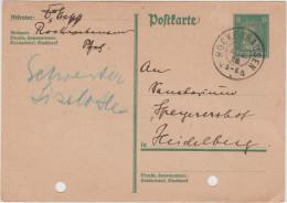 Deutsches Reich - 1928 - Postkarte - Postal Card - Entier Postal - 8 - Viaggiata Da Rockenhausen Per Heidelberg - Deutschland