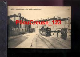 24 Dordogne - BRANTOME - Le Boulevard Coligny - Le Tramway - Brantome