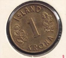 ISLAND 1 KRONA 1975 - Islandia