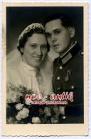 Orig. Foto Portrait Wehrmacht Hochzeit Ordensspange Sudetenmedaille Waffenrock Sarasani (D63) - 1939-45
