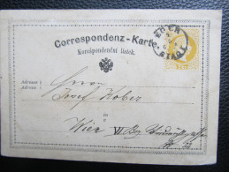 GANZSACHE Österreich Korrespondenzkarte 1872 Eger - Wien  ///  D*13920 - 1850-1918 Imperium
