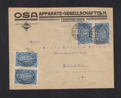 Dt. Reich Brief 1923 Frankfurt Nach Bremen Infla Geprüft - Briefe U. Dokumente