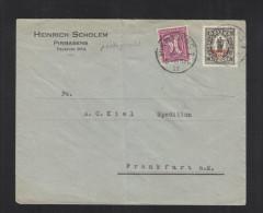 Dt. Reich Brief 1922 Pirmasens Nach Frankfurt Infla Geprüft - Deutschland