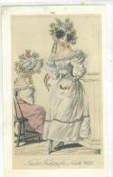 Lito Sur Papier Carton  2 Femmes  Coiffes Et Robes 19 Eme   Format  25x15 Cm  Nov 1828 - Ante 1900